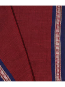 BOMKAI Cotton Sari -  Maroon