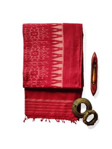 HAWA HAWAII Silk/Cotton Sari - Imperial Red