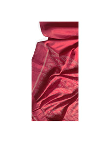 HAWA HAWAII Silk/Cotton Sari - Brick Red