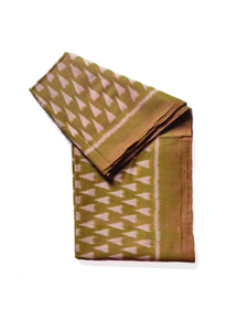 HAWA HAWAII Silk/Cotton Sari - Moss Green