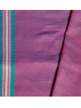 Load image into Gallery viewer, DHALA PHATAR Cotton Sari - Violet
