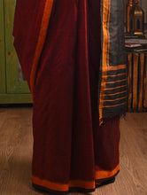 Load image into Gallery viewer, THIKRI IKAT Silk Sari - Mahogany Red