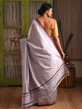 Load image into Gallery viewer, SANJUKTA Silk Sari - Titanium  White