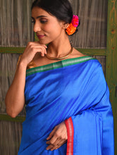 Load image into Gallery viewer, SANJUKTA Silk Sari - Azure Blue