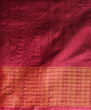 Load image into Gallery viewer, NAVAGUNJARA Tussar Silk Sari - Indian Pink