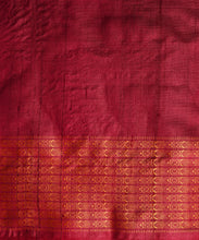 Load image into Gallery viewer, NAVAGUNJARA Tussar Silk Sari - Amber Yellow