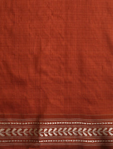 IKAT MASTERPIECE Konark Silk Saree - Cardovan Brown