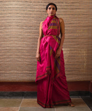 Load image into Gallery viewer, DONGRIA Tussar Silk Sari - Ruby Pink