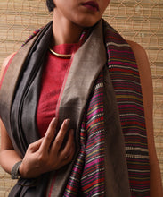 Load image into Gallery viewer, BEEJ Tussar Silk Sari - Shadow Grey