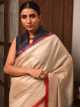 Load image into Gallery viewer, KUMBHA Tussar Silk Sari - Natural Beige