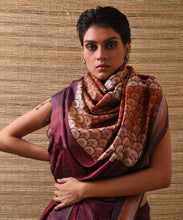 Load image into Gallery viewer, JHOTI Tussar Silk Sari - Aubergine