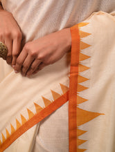 Load image into Gallery viewer, DESI KUMBHA Tussar/Cotton Sari - Ivory