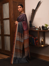Load image into Gallery viewer, TRI RATNA Tussar Silk Sari - Black