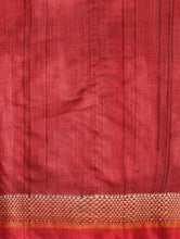 Load image into Gallery viewer, TRI RATNA Tussar Silk Sari - Crimson Red