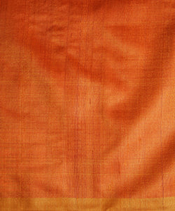 KUMBHA Tussar Silk Sari - Persian Red