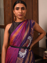 Load image into Gallery viewer, JATRA Tussar Silk Sari - Magenta