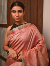 Load image into Gallery viewer, DONGRIA Tussar Silk Sari - Peach