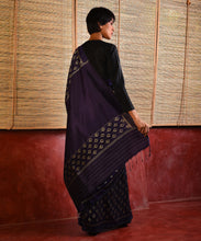Load image into Gallery viewer, JYOTI Silk Sari - Purple