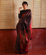 Load image into Gallery viewer, JWALA Silk Sari - Barn Red