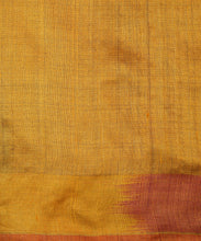 Load image into Gallery viewer, IKAT Tussar Satrang Silk Sari - Sangria Pink