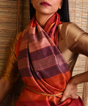 Load image into Gallery viewer, DHAAN Tussar Silk Sari - Orange