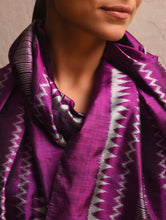 Load image into Gallery viewer, IKAT Silk Handwoven Stole  Violet