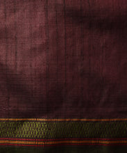 Load image into Gallery viewer, BOMKAI Tussar Silk Sari - Carmine Red
