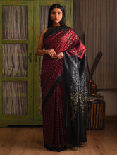 Load image into Gallery viewer, MELATI Saree - Maroon