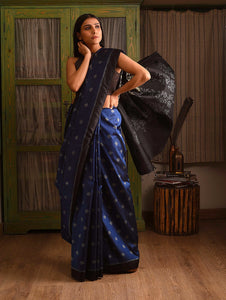 MELATI Saree - Regal Blue
