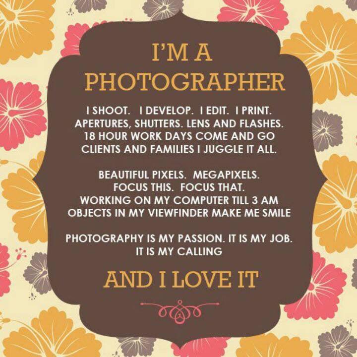 "Exclusive ""I'm a Photographer"" Wood Print"