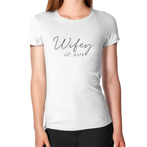 "Perfect ""Wifey"" T-Shirt - Est 2015 - Gray"