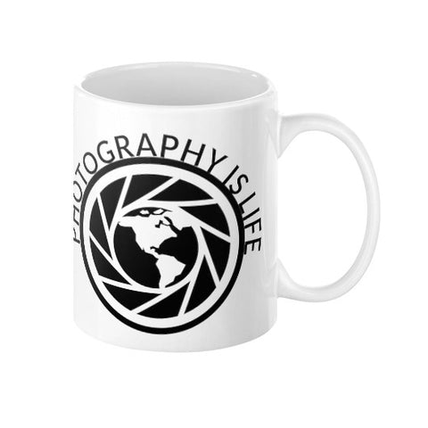 Photography is Life Coffee Mug - Globe