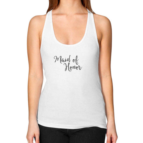 "Perfect ""Maid of Honor"" Racerback Tank - Gray"