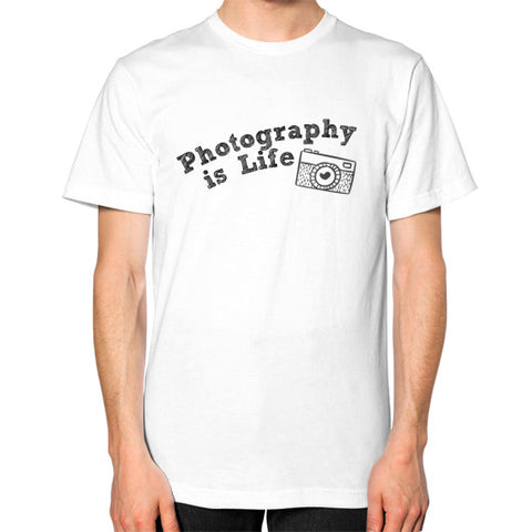 Photography is Life Tee - Camera (Unisex)