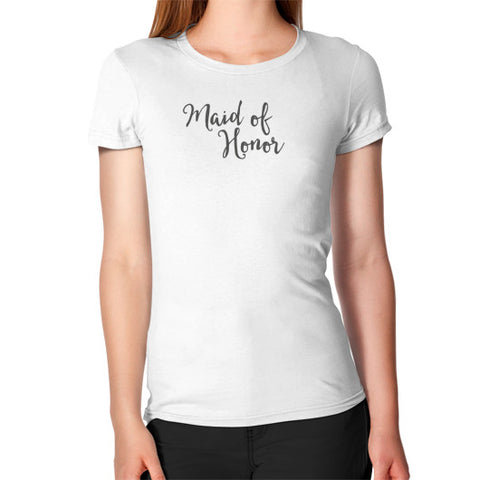 "Perfect ""Maid of Honor"" Tee - Gray"