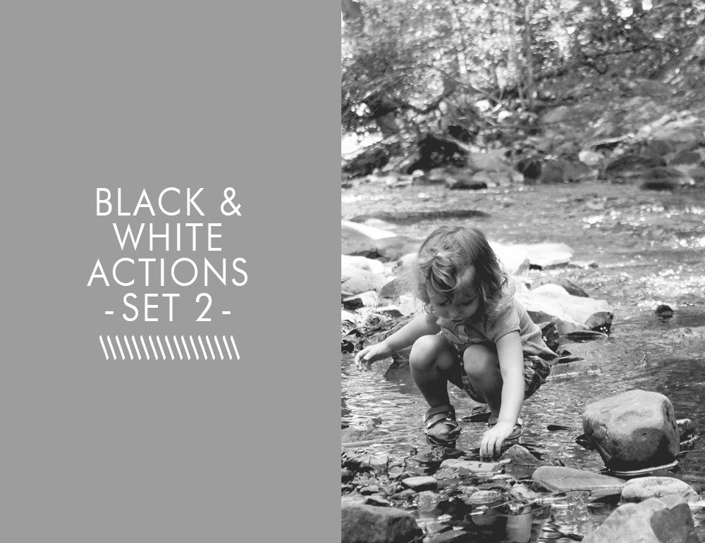 Black and White Actions -Set 2-