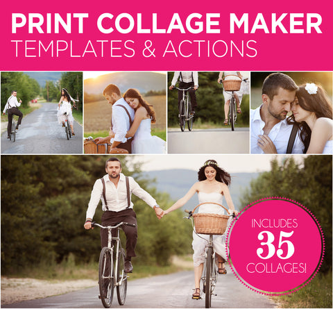 *NEW!* Print Collage Maker Templates & Actions