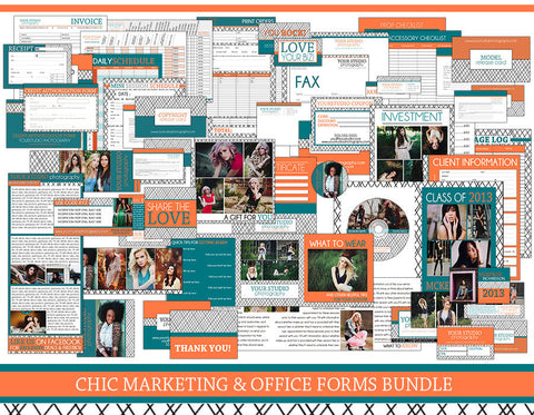 Chic Marketing & Office Forms Bundle