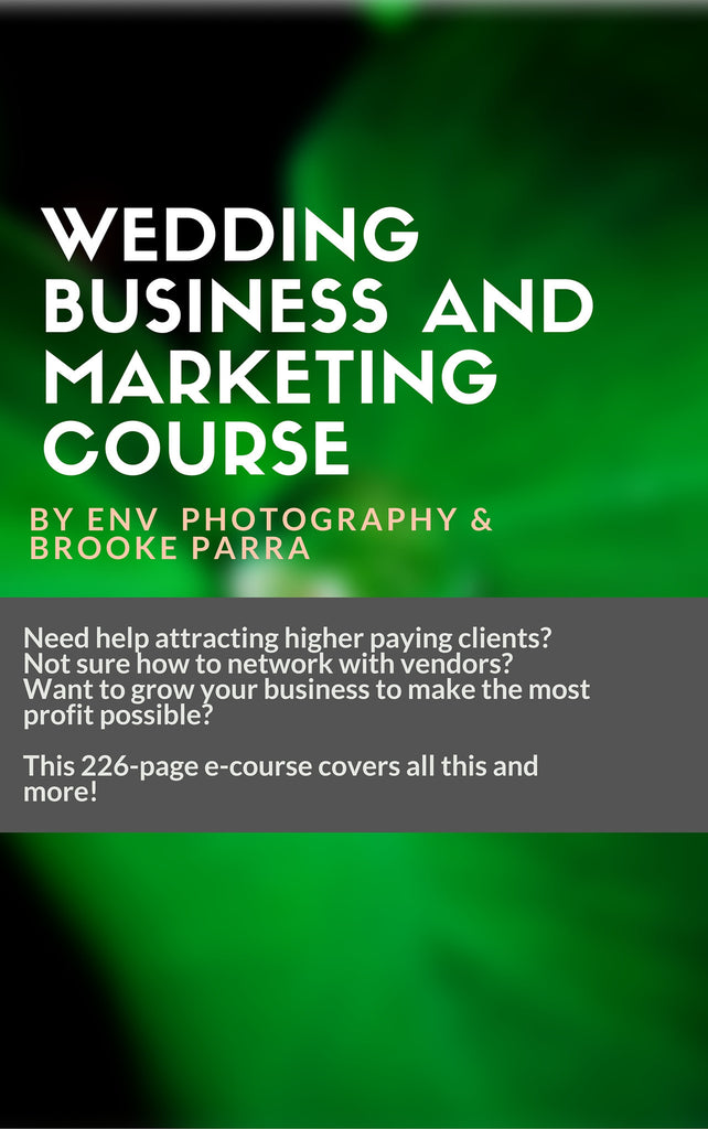 Wedding Photography Business Marketing Course