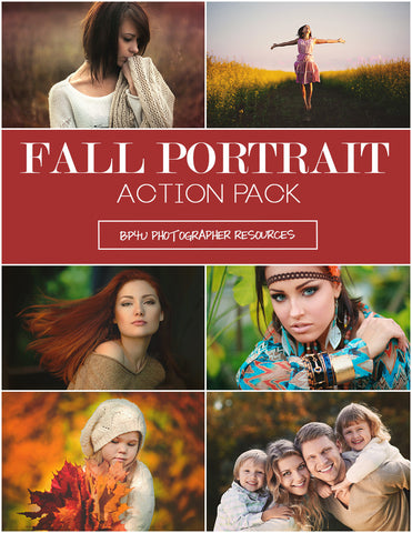 Fall Portrait Action Pack (Photoshop)
