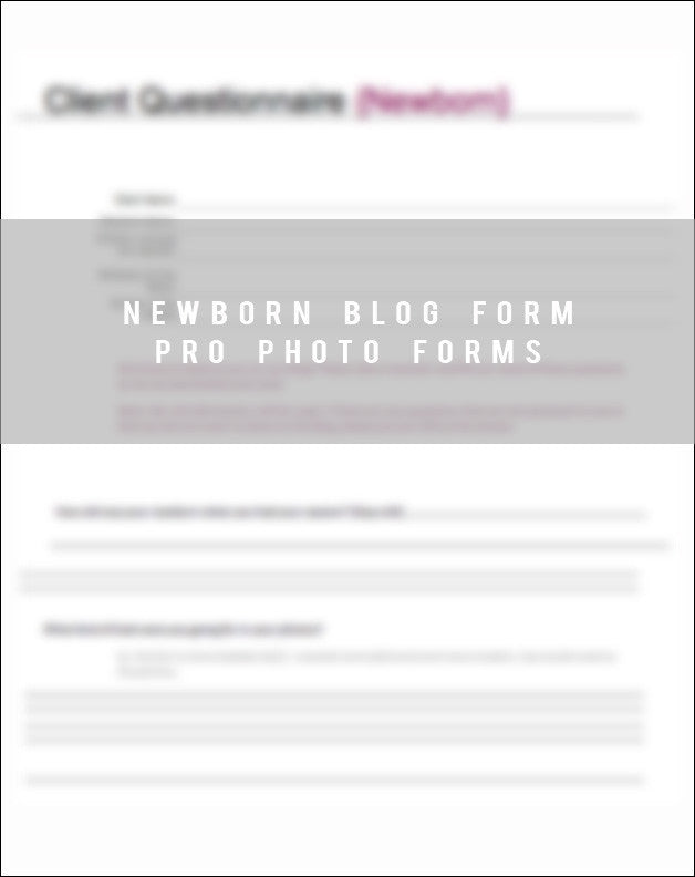 Newborn Blog Form