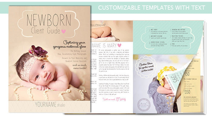 Newborn Magazine Welcome Packet Template {1st Edition}