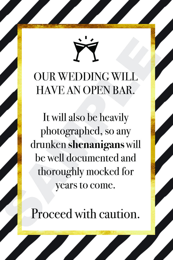 Wedding Shenanigans Printable