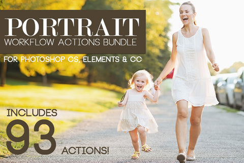 Portrait Workflow Actions Bundle (Photoshop)