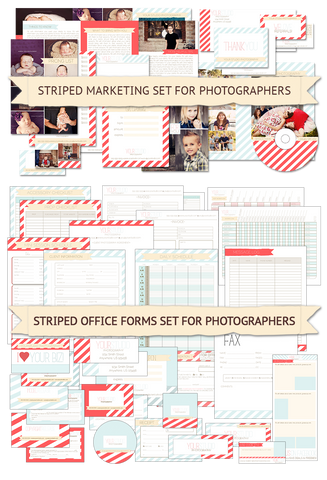 Striped Marketing & Office Forms Bundle