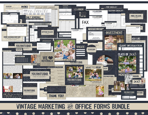 Vintage Marketing & Office Forms Bundle