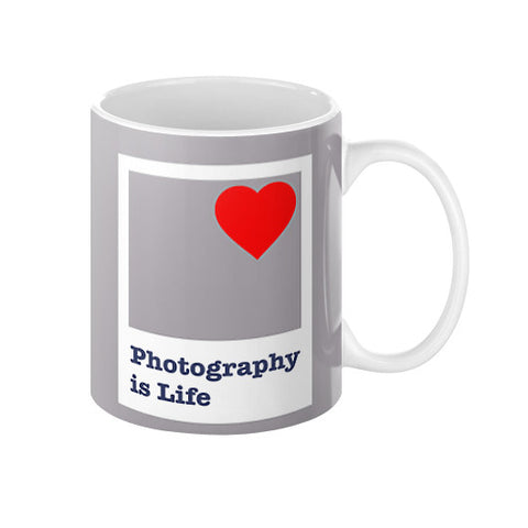 Photography is Life Coffee Mug (Polaroid)