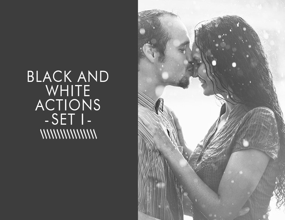 Black and White Actions -Set 1-