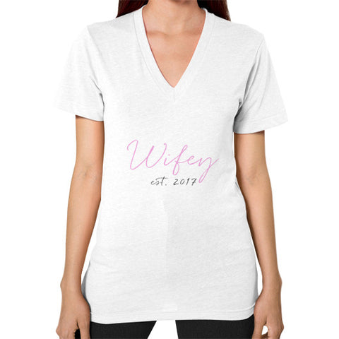 "Perfect ""Wifey"" V-Neck - Est 2017 - Colored"