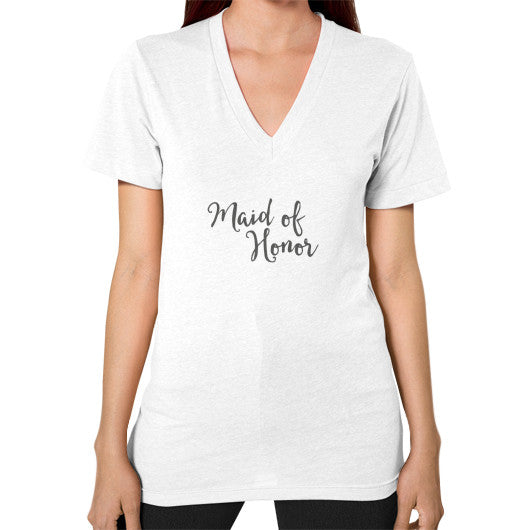 "Perfect ""Maid of Honor"" V-Neck - Gray"